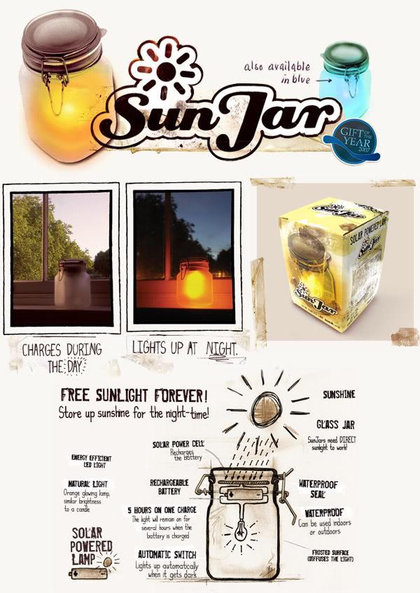 Hũ đựng ánh sáng mặt trời,mặt trăng Sun Jar