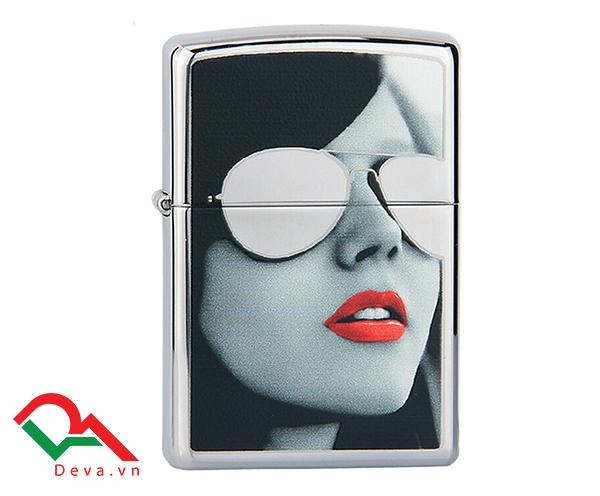 Zippo cô gái đéo kính trắng sunglasses Z37