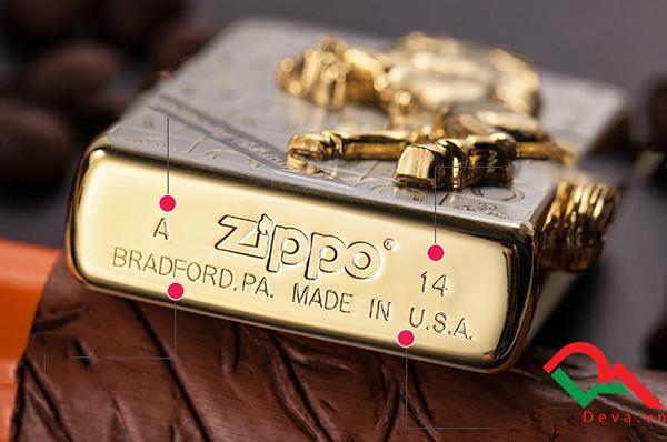 Bật lửa zippo Nhật con ngựa mạ vàng Z18