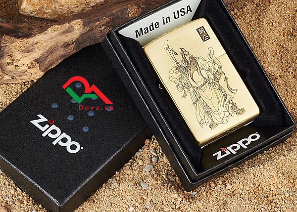 Bật lửa zippo mỹ khắc hình quan công Z09