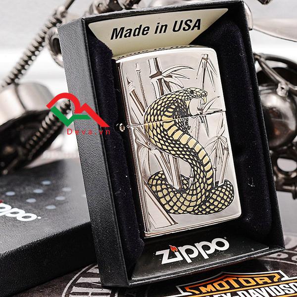 Bật lửa Zippo hình rắn cho những người tuổi rắn siêu đẹp