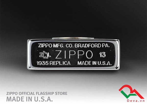 zippo bản lề ngoài màu bạc