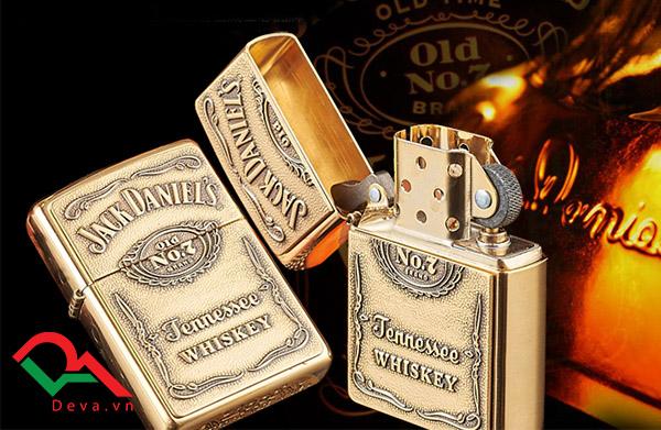 bật lửa zippo logo hãng rượu whiskey đẹp