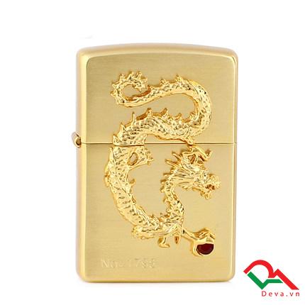 Zippo ốp rồng mạ vàng gới hạn Z146