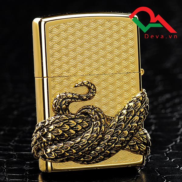 bật lửa zippo mỹ chính hãng đẹp hình con rắn