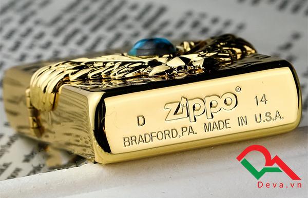 Bật lửa zippo Mỹ viên ngọc xanh Z27